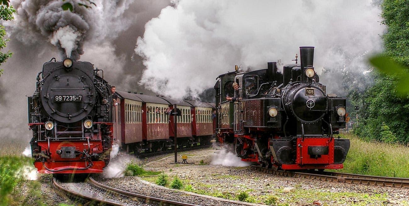 搭蒸汽火車登布洛肯山Brocken
