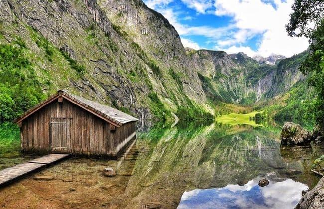 Konigssee國王湖的上湖Obersee