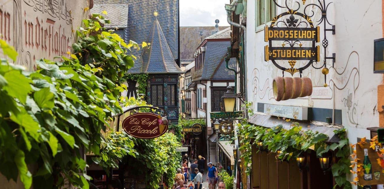 Rudesheim呂德斯海姆的畫眉鳥小巷又稱斑鳩小巷