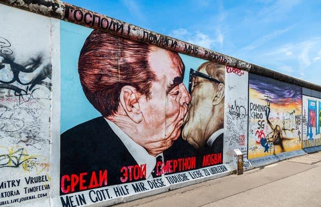 柏林圍牆兄弟之吻塗鴉