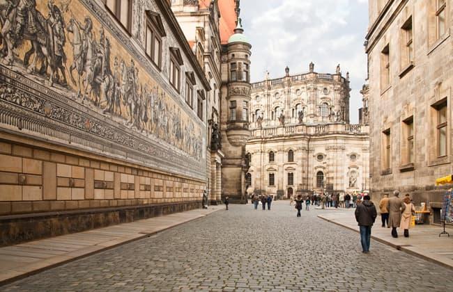 Dresden德勒斯登君主行列壁畫