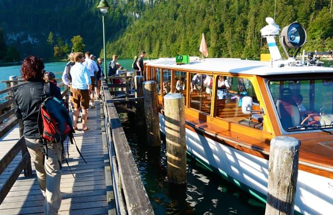 Konigssee國王湖的遊船